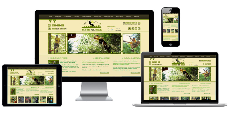 Website Aventura Parc Dragus